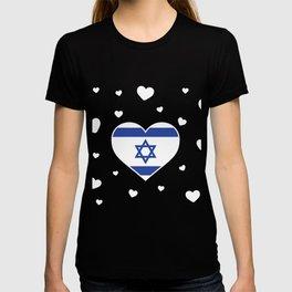 Israel  love flag heart designs  T-shirt