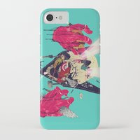hero iPhone & iPod Cases featuring Hero Eater by boneface