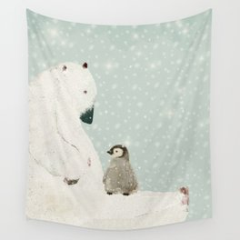 penguin and bear Wall Tapestry