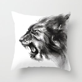 Roaring Lion Throw Pillow