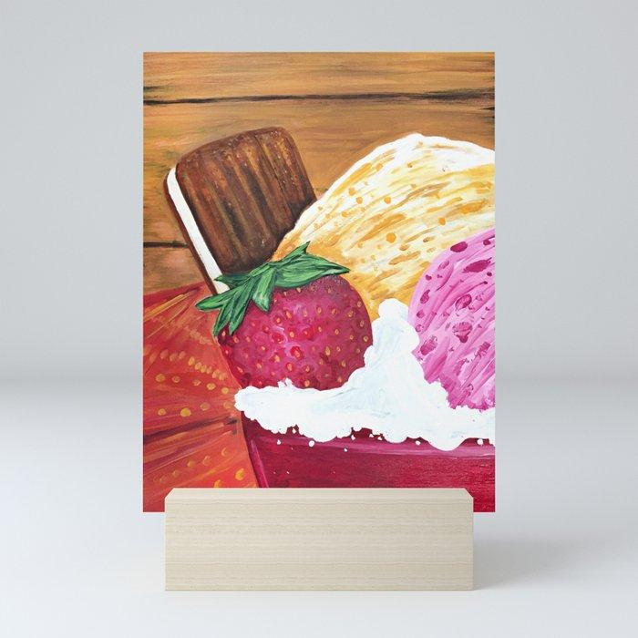 Ice Cream Dream Mini Art Print