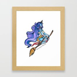 Pin-Up Witch Framed Art Print