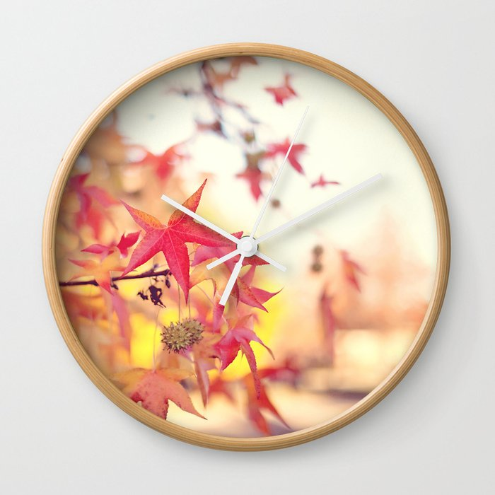 Forever Fall  Wall Clock