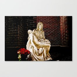 Virgin Mary, Queen Of Sorrows Canvas Print