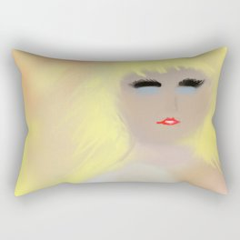 Bare Buxom Blonde Rectangular Pillow