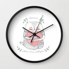 yummi cat Wall Clock