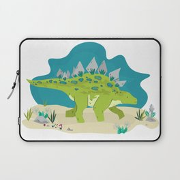 Stegosaurus dino illustration Laptop Sleeve