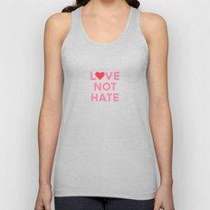 Love Not Hate Unisex Tank Top