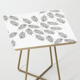 Black leaves Side Table