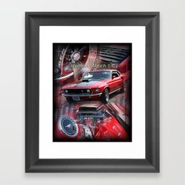 1969 Mustang Mach 1 CJ Framed Art Print