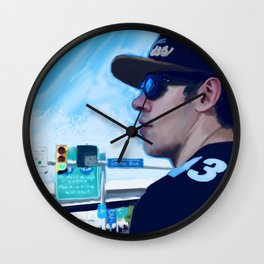Genomalu - Hockey great Evgeni (Geno) Malkin sports a Troy Polamalu jersey Wall Clock