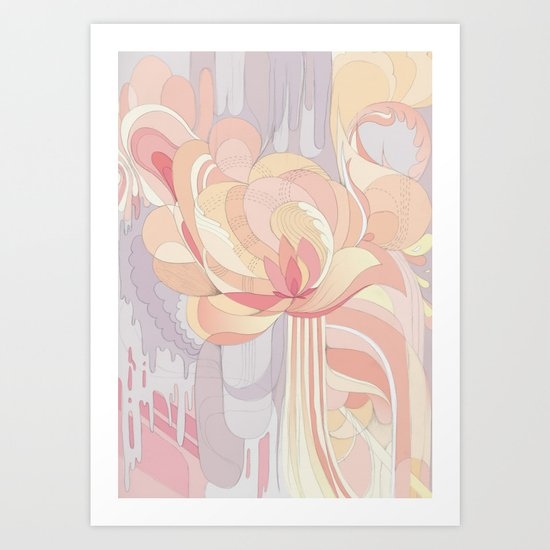 Floral Drip Art Print