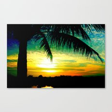 Summer Sunrise - Florida - Palm Trees  Canvas Print