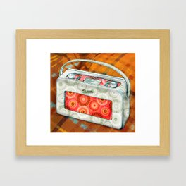 Cosy sounds on the radio Framed Art Print