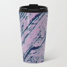 Lilac marble effect Metal Travel Mug