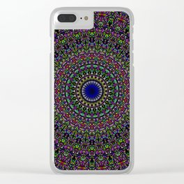 Colorful Sacred Kaleidoscope Mandala Clear iPhone Case