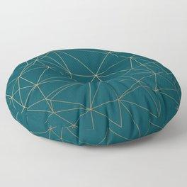 Benjamin Moore Hidden Sapphire Gold Geometric Pattern Floor Pillow