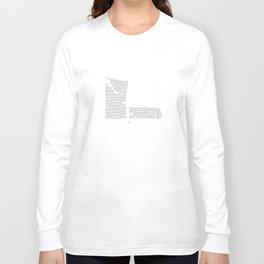 Erosion & Typography 4 Long Sleeve T-shirt