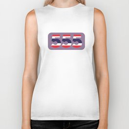 555 in the colors of the Thai flag Biker Tank
