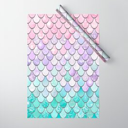 Cute Pretty Fun Girly Pattern, Ombre Pastel Pink, Purple, Teal Wrapping Paper