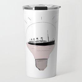 Ship in a light bulb. Home decor Graphicdesign Travel Mug
