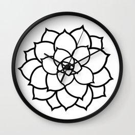 Simple Succulent Wall Clock