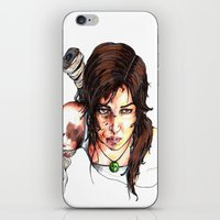 tomb raider iPhone & iPod Skins featuring Tomb Raider: The Survivor by Dale Dupre