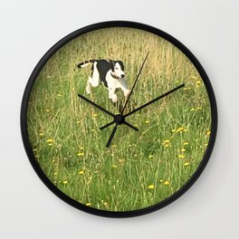 Happiness is running wild and free, and not letting your feet touch the ground! Wall Clock