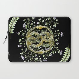 Neverending Story Inspired Auryn Garden in Black Laptop Sleeve