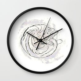 cat cosmos Wall Clock