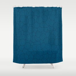 Deep Blue Ocean - Abstract Shower Curtain