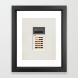"Vintage Calculator Series: ""Alpha"" Framed Art Print"