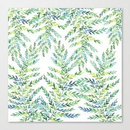 Watercolor ferns Canvas Print
