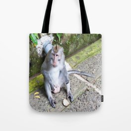 Crab-Eating Macaque I (Balinese Monkey) Tote Bag