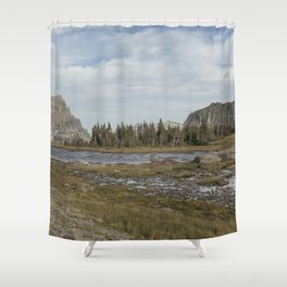 Mt Reynolds and Heavy Runner from Logan Pass Shower Curtain