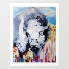Blue Buffalo Art Print