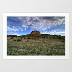 Pawnee Buttes Evening Sky Art Print