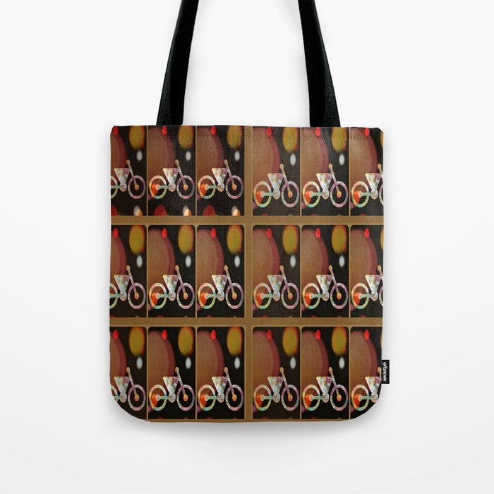Bicycle Brown Derby Tote Bag
