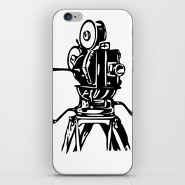 Vintage Motion Picture Film Camera Graphic iPhone Skin