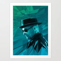 heisenberg Art Prints featuring Heisenberg by mobokeh