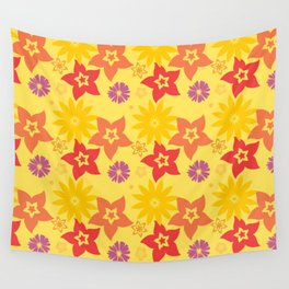 Sunny Flowers Wall Tapestry