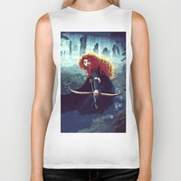 merida Biker Tanks featuring Brave - Merida by Juniper Vinetree