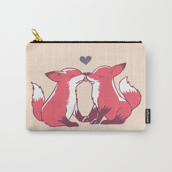 Fox Kisses Carry-All Pouch