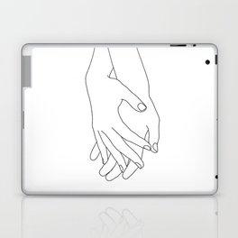 Holding hands illustration - Elana White Laptop & iPad Skin