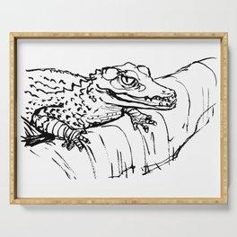 Crocodile - cocodril - cocodrilo Serving Tray