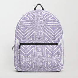 Nappy Faux Velvet Framed Wicker Repeat in Lilac Backpack
