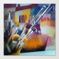 studio killers Canvas Prints featuring studio by Eva Lesko