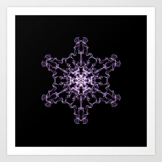 Purple Silk Snowflake Art Print