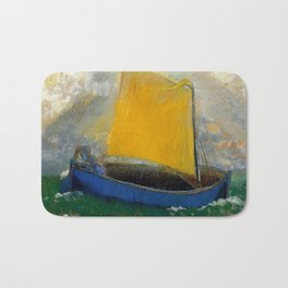 "Odilon Redon ""La Barque Mystique"" Bath Mat"