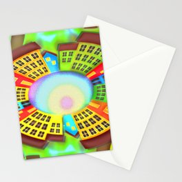 Little round dream-town Stationery Cards